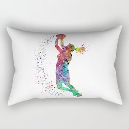 Basketball Girl Player Sports Art Print Rectangular Pillow