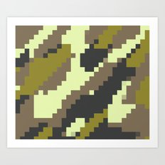 Digital Camo Art Print