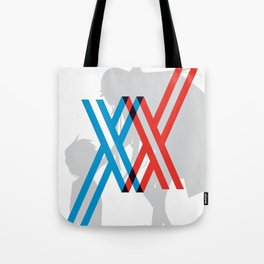 Darling in the FranXX - Hiro and Zero Two Tote Bag