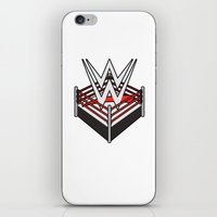 wwe iPhone & iPod Skins featuring WWE Ring Logo by CmOrigins