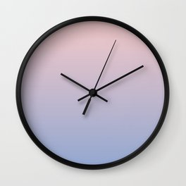 Rose Quartz + Serenity Gradient Wall Clock
