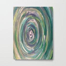 Teal Swirl Metal Print