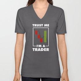 I'm a Trader Stock Market Candlestick Investor Gift Unisex V-Neck