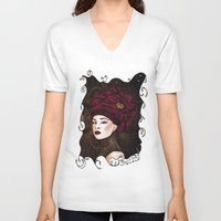 steampunk V-neck T-shirts featuring Steampunk by Paula Noidat