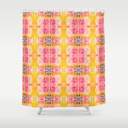 Indie art lighter tones Shower Curtain