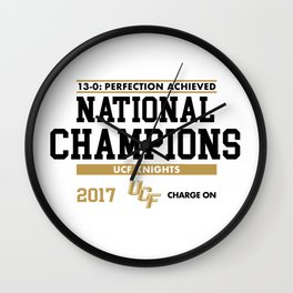 UCF 2017 National Champions Wall Clock