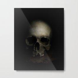 Male skull Metal Print