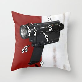 Bad Robot - Super8 Throw Pillow