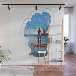 Sunset SUP Wall Mural