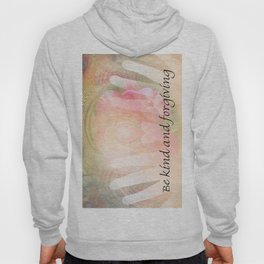 Orange Rose Heart and Hands Kind and Forgiving Hoody