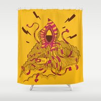 kraken Shower Curtains featuring Kraken! by Popnyville