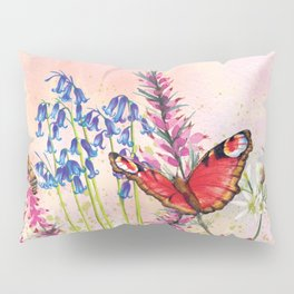 Wild meadow butterflies Pillow Sham