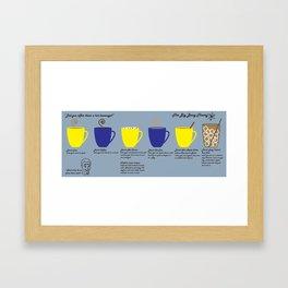 The Big Bang Theory Drink Order Framed Art Print