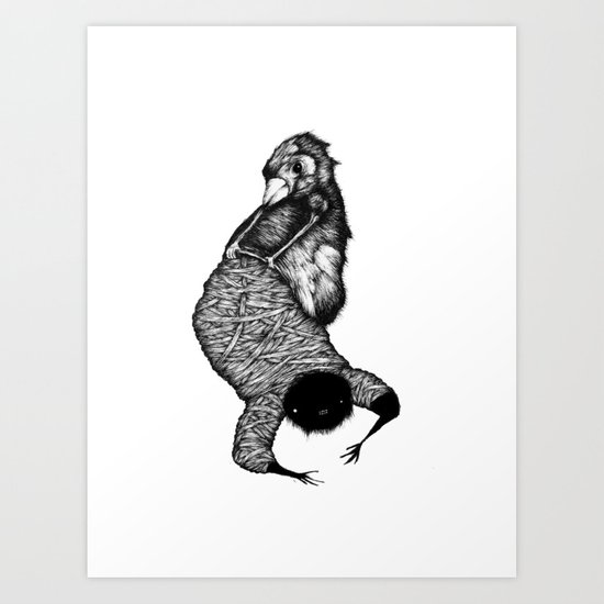 Ink Fingers Art Print