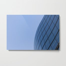 The Blue Curve Metal Print