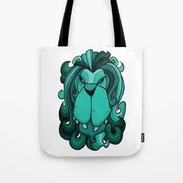 Lion - Arcadia Blue Green Tote Bag