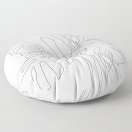 Monstera Illustration Floor Pillow