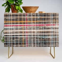 structure with red lines Credenza
