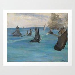 "Édouard Manet ""Sea View, Calm Weather (Vue de mer, temps calme)"" Art Print"