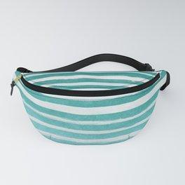 Teal Foil Stripes Fanny Pack