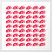 Strawberry Pie Art Print
