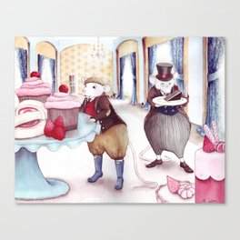 Jellies and Cakes - The Town Mouse and the Counrty Mouse - Aesop's Fables Canvas Print