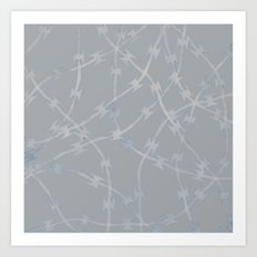 Trapped Grey Art Print