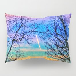 Pastel Plane Take-Off Pillow Sham