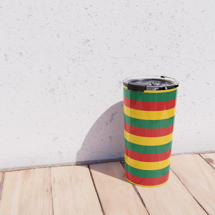 lithuania benin burkina faso flag stripes Travel Mug