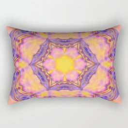 Delicate kaleidoscope in the colors of summer Rectangular Pillow