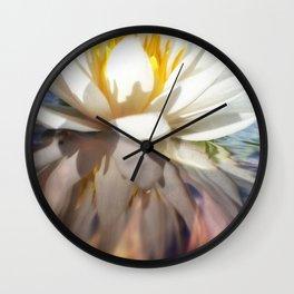 Lotus on lake Wall Clock