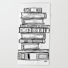 Stack of Books Beach Towel