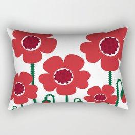 Red poppy designers flowers Rectangular Pillow
