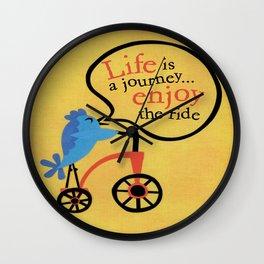 Bird On A Bike Wall Clock