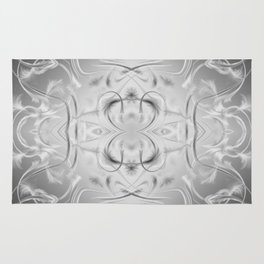 elegant silver Digital pattern with circles and fractals artfully colored design for house Rug