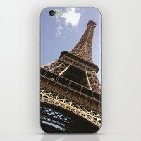 eiffel tower iPhone & iPod Skins featuring Eiffel Tower by caroline