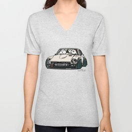 Crazy Car Art 0155 Unisex V-Neck