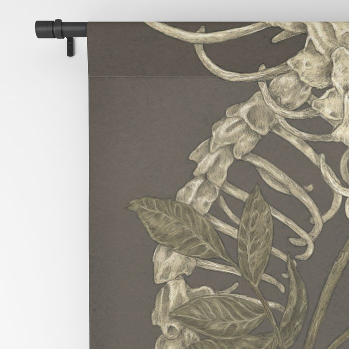 Snake Skeleton Blackout Curtain