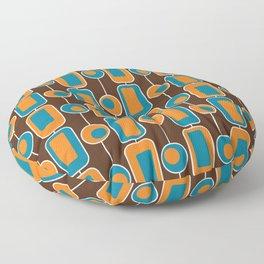Orange Square Floor Pillow
