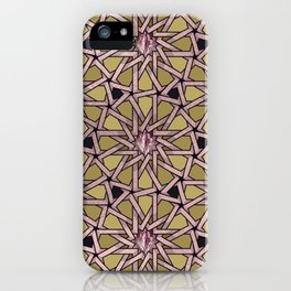 Rose Gold Pussy Pattern iPhone Case