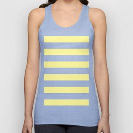Simply Stripes in Pastel Yellow Unisex Tank Top