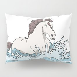 Wild horse mold in the water Pillow Sham