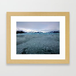 Alaska Hubbard Glacier Floating Blue Ice Framed Art Print