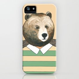Bear Waiting to Cross the Street iPhone Case