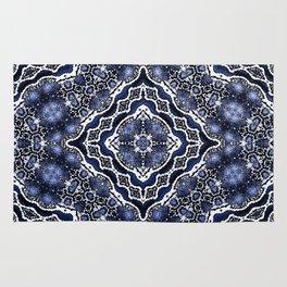 abstract jewel indigo Rug