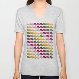 Rainbow Army of Frogs Unisex V-Neck