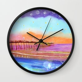 Avalon Blues Wall Clock
