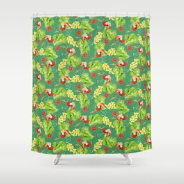 Tropical Shrimp Cocktail Shower Curtain