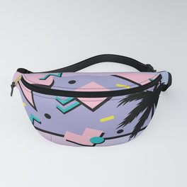 Memphis Pattern 25 - Miami Vice / 80s Retro / Palm Tree Fanny Pack