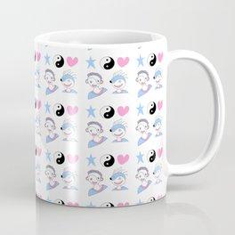 face,tao,heart and star -taoism,yin,yang,love,girl,light,spangled,rays,hope Coffee Mug
